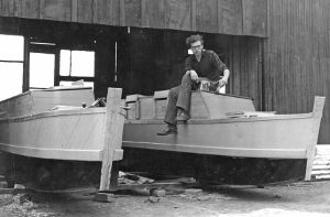 James Wharram - British pioneer of the modern catamaran - building Rongo in the 1950s.