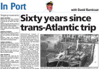 Sixty years since trans-Atlantic trip