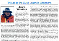 Tribute To The Living Legends - James Wharram