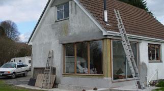 House exterior under renovation