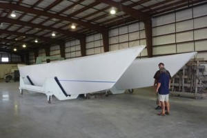 Ariki 47 hulls in workshop