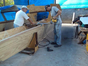Tiki 30 under construction