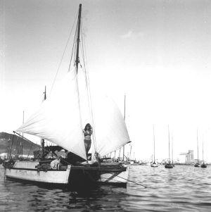 Black and white photo of Tangaroa