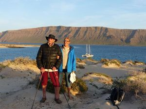James and Hanneke on shore