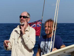 Tino and Matt on deck