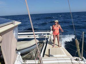 Isabel on deck