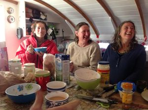 Crew at the breakfast table