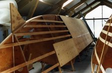 Partially completed Wharram hull