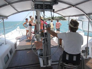 Bruno at the helm