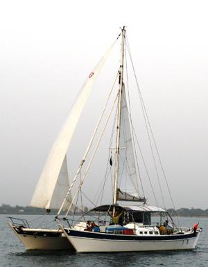 Tehini under sail