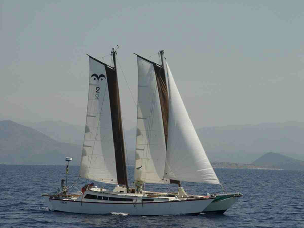 Tiki 36 with Wharram Wingsail Schooner Rig