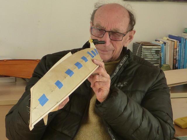 James inspecting the Mana hull model