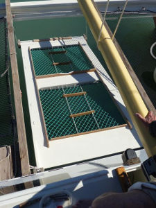Ramp installed at the stern of boat