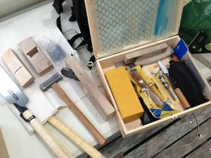 Tools and a toolbox