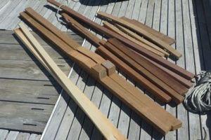 Pile of new hardwood