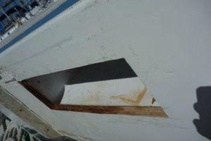 Holes in mast case