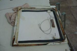 A decrepit hatch