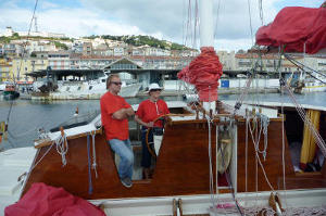 Hanneke at the helm of Largyalo