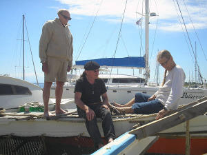 James, Hanneke and Willie aboard Gaia