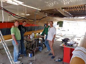 The team under Gaia's deck