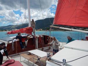 Largyalo under sail