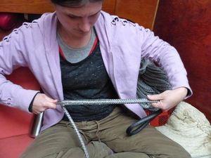 Jen making a brummel splice