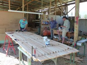 The platform being made at the timberyard