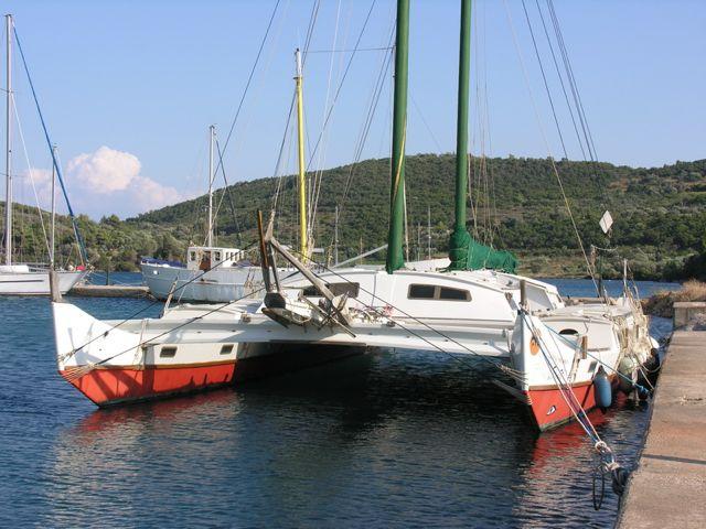 63 foot catamaran on the water