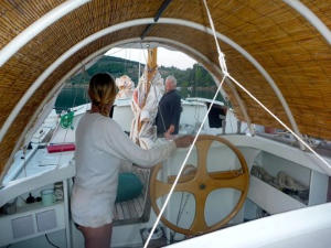 Hanneke at the helm