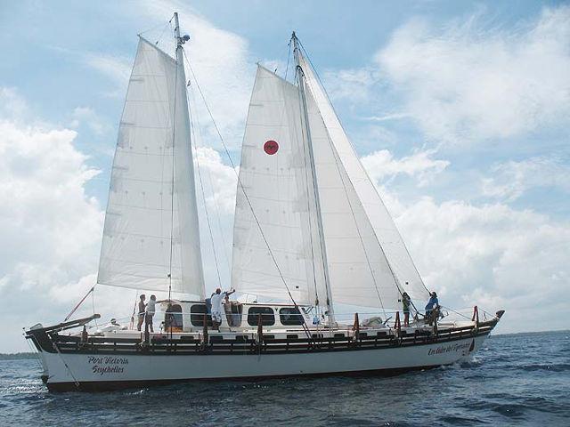 Islander 65 sailing