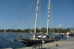 Schooner in the marina