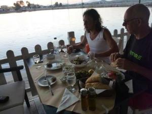Restaurant table overlooking the water