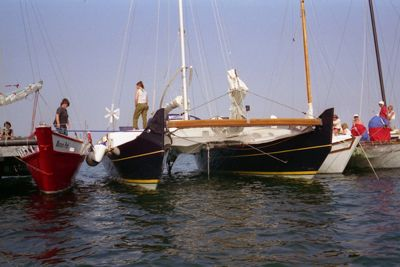 Wharram catamarans side by side
