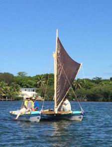Tahiti Wayfarer sailing