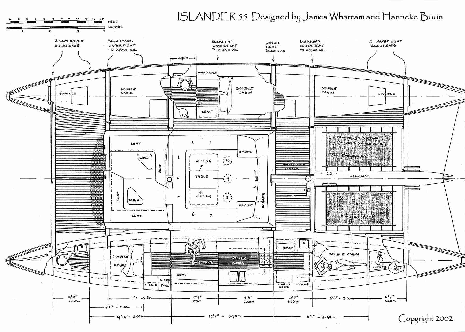 Islander 55 - Charter layout drawing