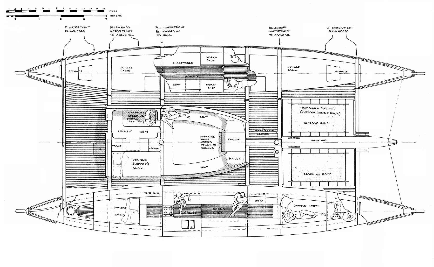 Islander 55 - Ocean cruising layout drawing