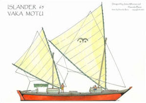 Islander 65 on the beach drawing