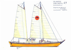 Islander 65 sail plan drawing