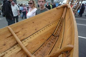 Norwegian sewn boat replica