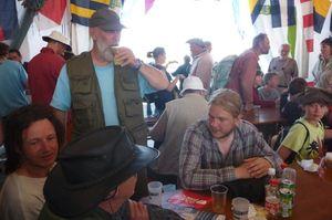 Amatasi crew drinking cider