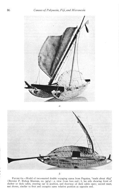 Tuamotu canoe model