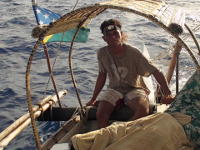 Jozeph Maru at the helm of Lapita Anuta