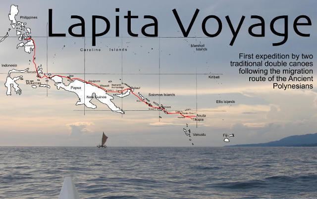 Lapita Voyage: First expedition by two traditional double canoes following the migration route of the ancient Polynesians
