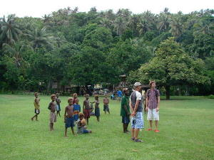 Villagers on Waton island