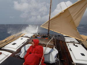 Sailing in rough weather