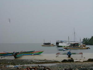 Boats on the beach in Korido