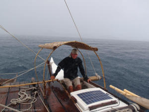 Klaus at the helm