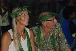 Hanneke and James with headdresses