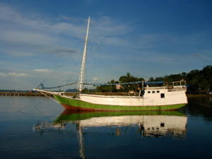 Indonesian fishing boat in the harbour