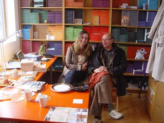 James and Anne in an office